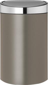 Brabantia Touch Bin 40 Liters Platinum/Matte Steel Lid