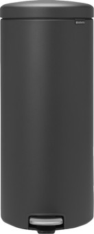 Brabantia NewIcon Pedal Trash Can 30 Liters Mineral Infinite Gray