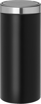 Brabantia Touch Bin 30 Liters Black Stainless Steel