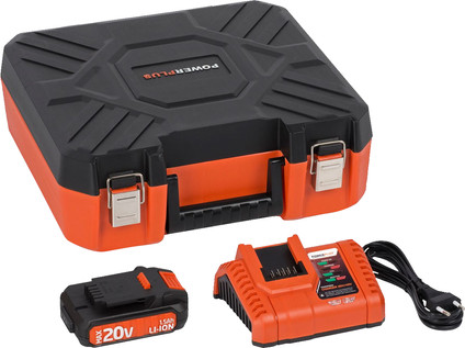 Powerplus Dual Power Battery Charger + Battery 20V 1,5 Ah Li-Ion