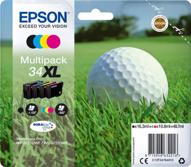 Epson 34XL Cartridges Combo Pack
