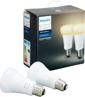 Philips Hue White Ambiance E27 Duo Pack