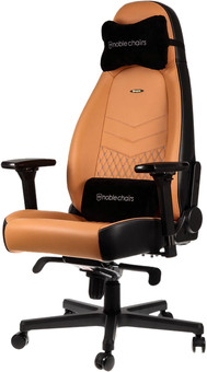 noblechairs ICON Genuine Leather Gaming Chair Black/Beige