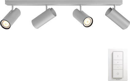 Philips Hue Buratto 4-Spot Gray with Dimmer