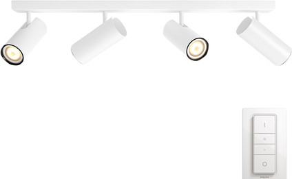 Philips Hue Buratto 4-Spot White with Dimmer