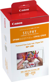 Canon RP-108 Ink Cassette / Paper Set 108 sheets
