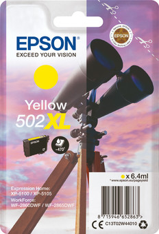 Epson 502XL Cartridge Yellow