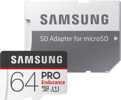 Samsung microSDXC PRO Endurance 64GB 100MB/s + SD Adapter