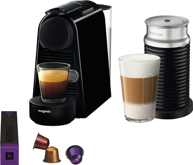 Magimix Nespresso Essenza Mini Black + Milk Frother