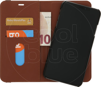 Azuri Luxury 2-in-1 Wallet Apple iPhone Xs Max Book Case Brown