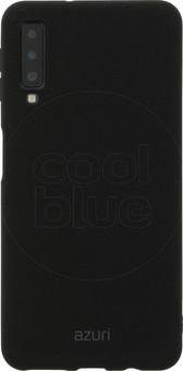 Azuri Flexible Sand Samsung Galaxy A7 (2018) Back Cover Black