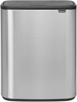 Brabantia Bo Touch Bin 2x30 Liters Steel Fingerprint Proof