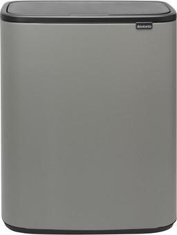 Brabantia Bo Touch Bin 2x30 Liters Mineral Concrete Gray