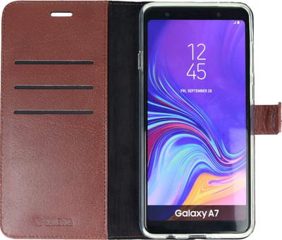 Valenta Booklet Gel Skin Samsung Galaxy A7 (2018) Book Case Brown