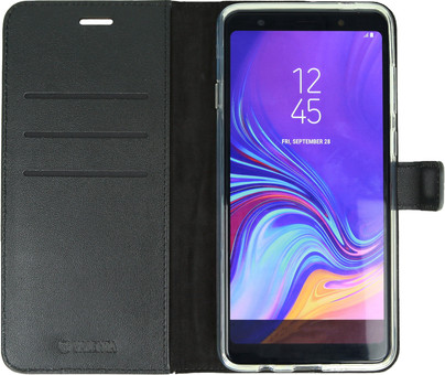 Valenta Booklet Gel Skin Samsung Galaxy A7 (2018) Book Case Black