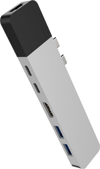 Hyper USB-C to HDMI, Ethernet, and USB Docking Station Silver