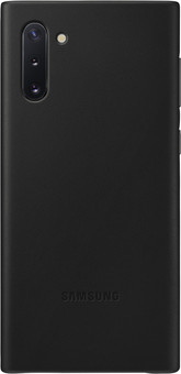 Samsung Galaxy Note 10 Back Cover Leather Black