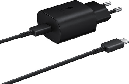 Samsung Charger with Cable 1M USB-C 25W with Power Delivery Black