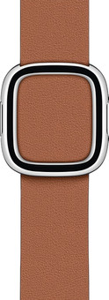 Apple Watch 38/40mm Modern Leather Watch Strap Saddle Brown - Small