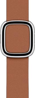 Apple Watch 38/40mm Modern Leather Watch Strap Saddle Brown - Medium