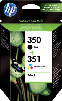 HP 350/351 Cartridges Combo Pack