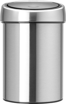 Brabantia Touch Bin 3 Liters Matte Steel Fingerprint Proof