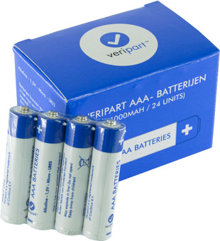 Veripart Alkaline AAA batteries 24 units