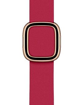 Apple Watch 38/40mm Modern Leather Watch Strap Raspberry - Medium