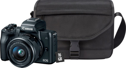 Starter Kit - Canon EOS M50 Black + 15-45mm IS STM + bag + memory card + cloth