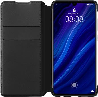 Huawei P30 Flip Cover Book Case Black