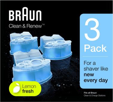Braun Cleaning Fluid Clean & Renew Cartridges (3 units)