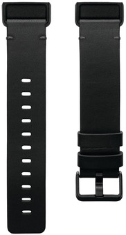 Fitbit Charge 4 Leather Strap Black Size L