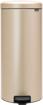 Brabantia Newlcon Pedal Trash Can 30 Liters Champagne