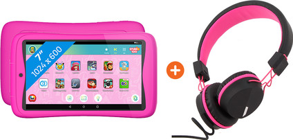 Kurio Tab Connect Studio 100 Pink + Headphones