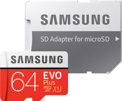 Samsung microSDXC EVO+ 64 GB 100MB/s CL 10 + SD adapter
