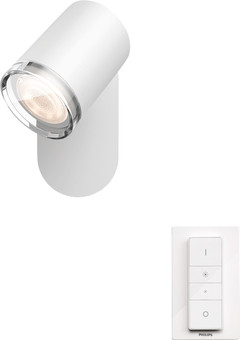 Philips Hue Adore Mounted Spot Bathroom White Ambiance 1 Light White