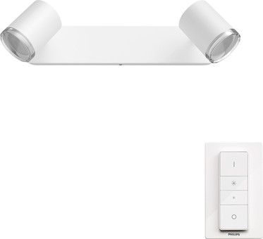 Philips Hue Adore Mounted Spot Bathroom White Ambiance 2 Lights White