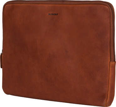 Burkely Antique Avery Laptop Sleeve 15.6 Inch Cognac