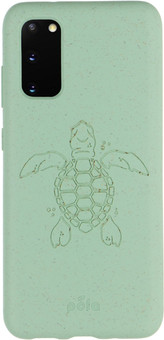 Pela Eco Friendly Samsung Galaxy S20 Back Cover Blue (Turtle Edition)