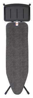 Brabantia Ironing Board 124x38cm Denim Black with Solid Steam Unit Holder
