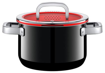 WMF FusionTec Functional Cooking Pot 20cm + lid Black