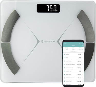 Silvergear Bluetooth Personal Scale White