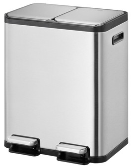 EKO EcoCasa II Splitted Trash Can 2x 30L Matte Stainless Steel