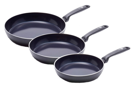 GreenPan Torino Frying Pan Set 3-Piece - 20cm + 24cm + 28cm