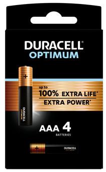 Duracell Alka Optimum AAA batteries 4 units