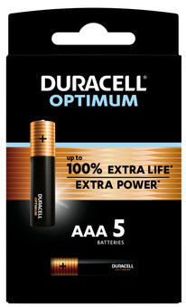 Duracell Alka Optimum AAA batteries 5 units