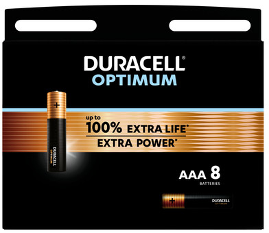 Duracell Alka Optimum AAA batteries 8 units