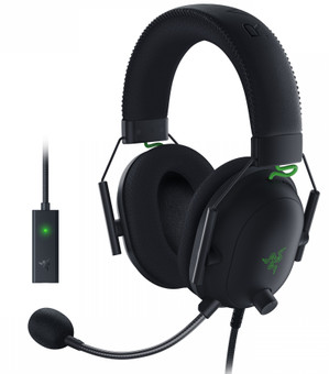 Razer Blackshark V2 Gaming Headset + USB Mic Enhancer