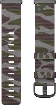 Fitbit Versa 3/Sense Nylon Strap Camo S