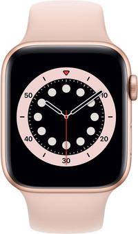 Apple Watch Series 6 44mm Gold Aluminum Pink Sand Sport Band